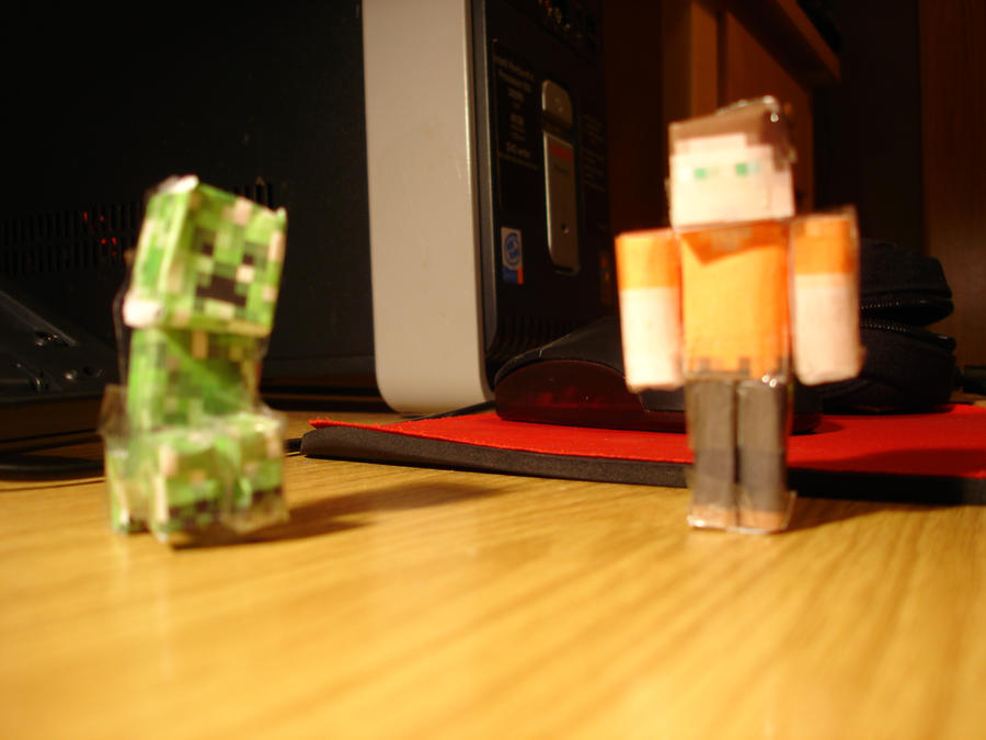 Minecraft creeper + me cutouts by Tryzon