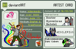 Artist Card by killermedic