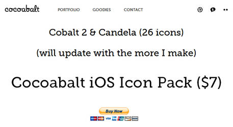 Cocoabalt iOS icon pack
