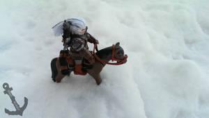 Snowy Precipice - Geralt and Roach