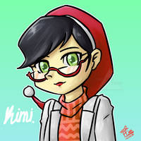 Kimi / Original character / christmas icon by Dafterthebigdrawer