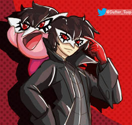 Joker and Kirby, Shash Ultimate, FanArt by Dafterthebigdrawer