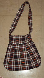 Plaid Bat Purse