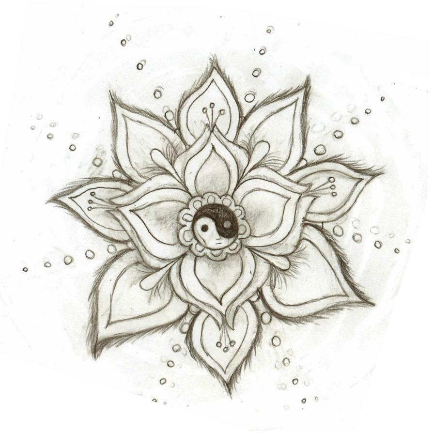 Yin Yang Flower By Skysage On DeviantArt