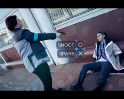 Make the right choice - Connor/Markus DBH Cosplay by AlexBlacklight