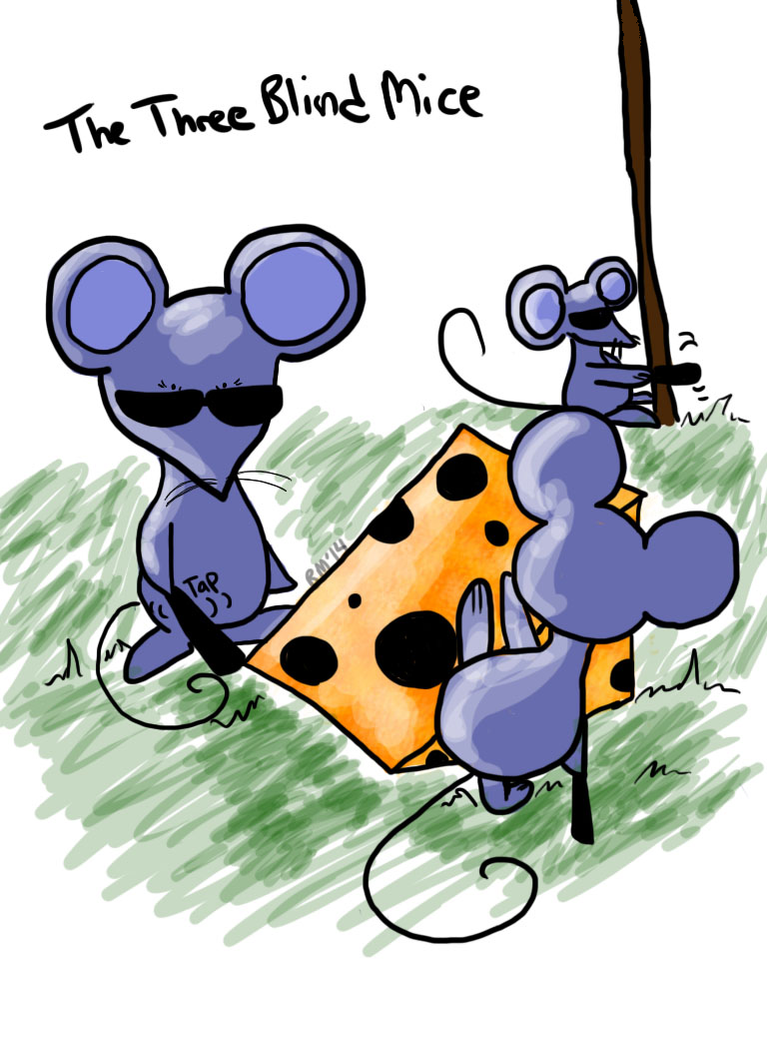 Three Blind Mice Sketch Dailies by booper101