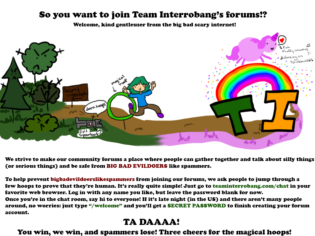 Teaminterrobang Registration poster by booper101