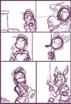 FNAF - Foxy Woos the Security Guard (Page 2 WIP)
