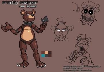 FNAF - Freddy Fazbear: Ref Sheet