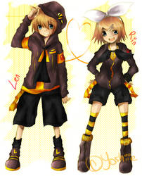 .::Kagamine Twins::. by Yoshiie