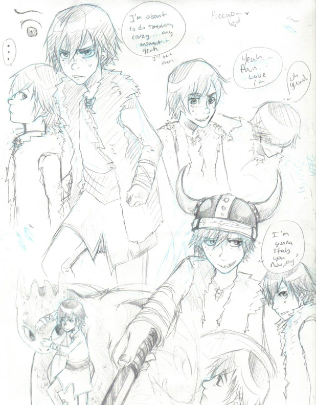 Hiccup Sketches by Yoshiie