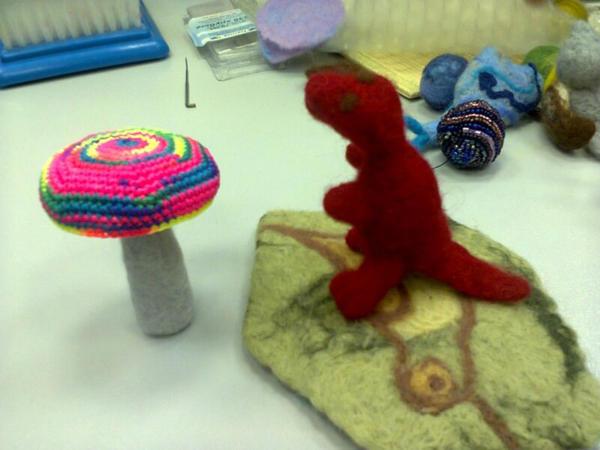 little dragon asked rainbow mushroom by pe4enj-treski