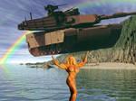 Melissa Coates lifting tank