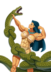 Pocahontas vs snake by Superstrongbabes