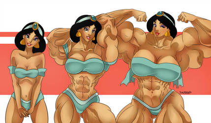 Jasmine Muscle growth 2 by Superstrongbabes