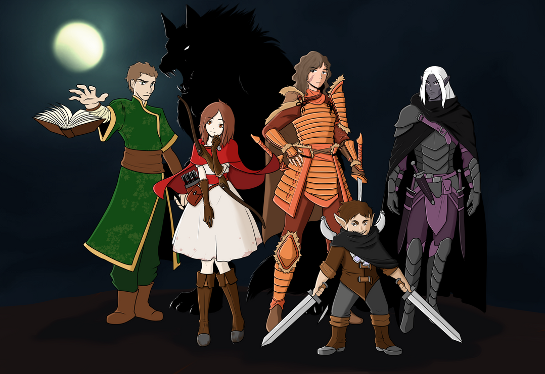 Friend's DnD Group by sorenshadow