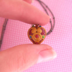Cosmic Heart Compact Necklace by instantpudding