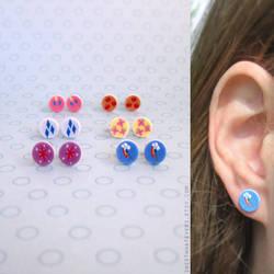 MLP - Cutie Mark Earrings by instantpudding
