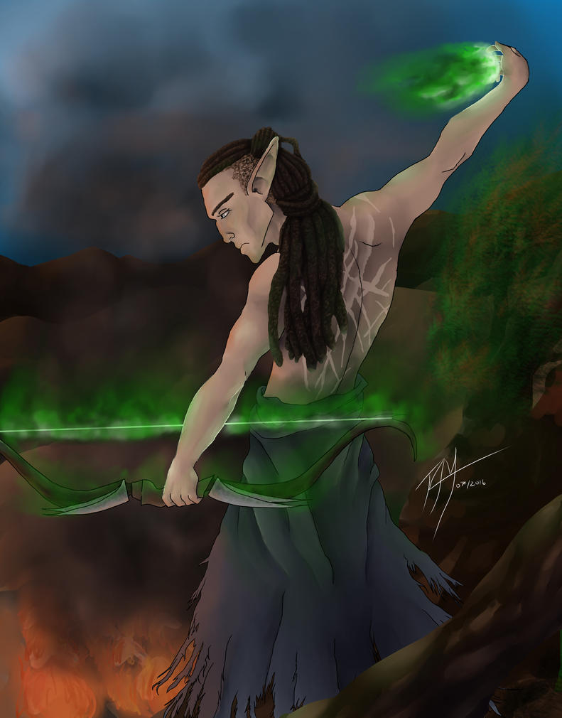 Fen'Harel and the Slow Arrow by Flamewing8