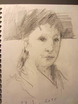 Mary Cassatt sketch