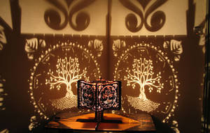 Pranaya Design: Tree of Life Shadow Lamp by pranayadesign