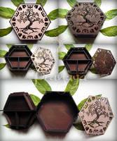 Pranaya Design: Tree Hexagon Box by pranayadesign