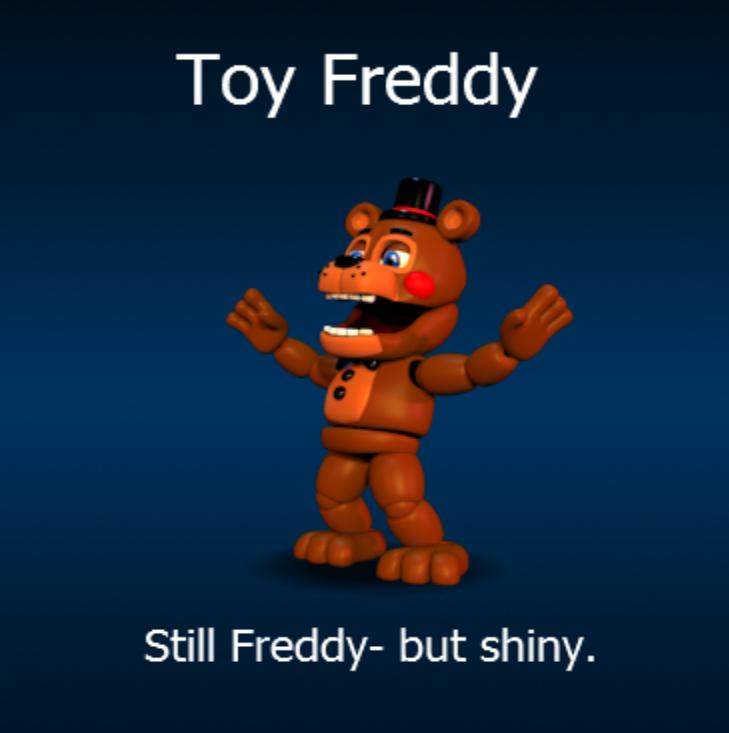 Still freddy but shiny fnaf world toy freddy by chocowhite