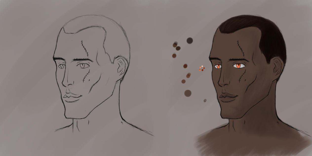 Black Guy Progress by Fr0zenTiger