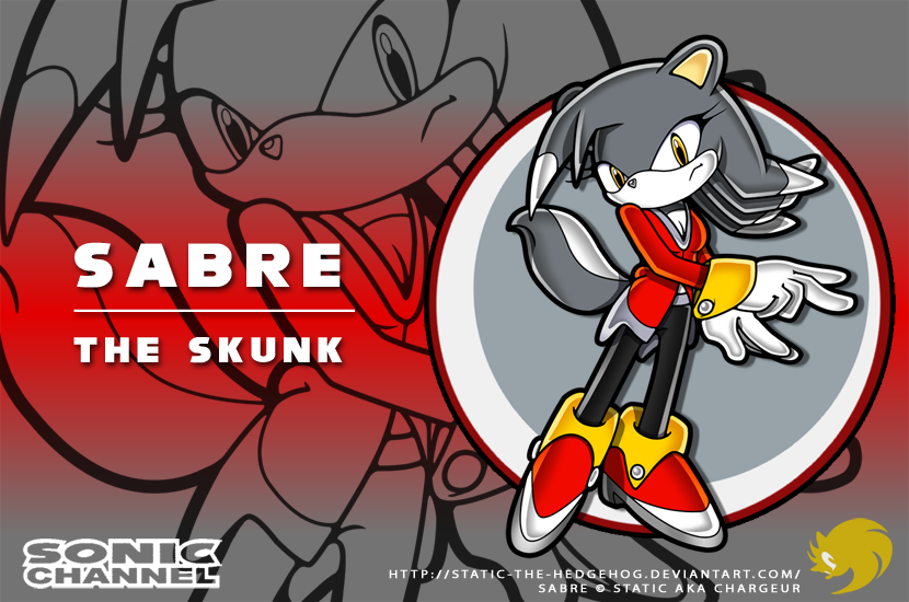 Sonic Channel: Sabre the Skunk by Fuzon-S