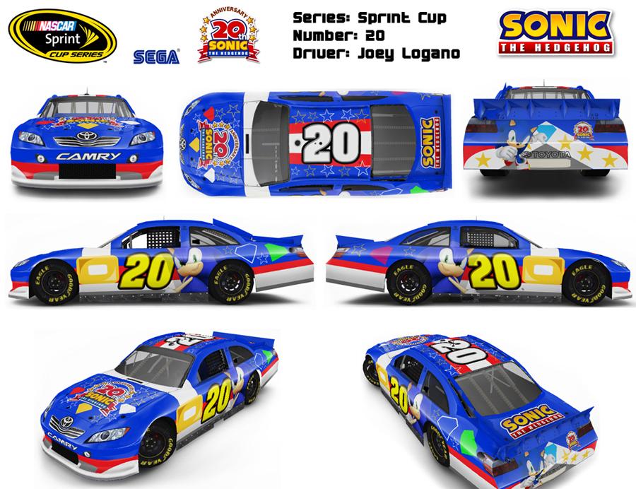 Sonic NASCAR Car Design by FuzonS on DeviantArt