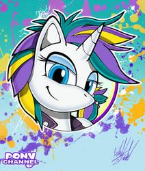 Pony Channel: Raripunk (Portrait) by Fuzon-S