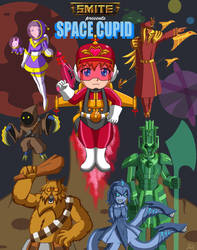 Smite Fanart: Sci-fi Gods - Space Cupid by A-Lil-RnR