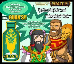 Smite Fanart: Guan Beard Ad by A-Lil-RnR