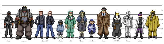 Rogues Lineup by A-Lil-RnR