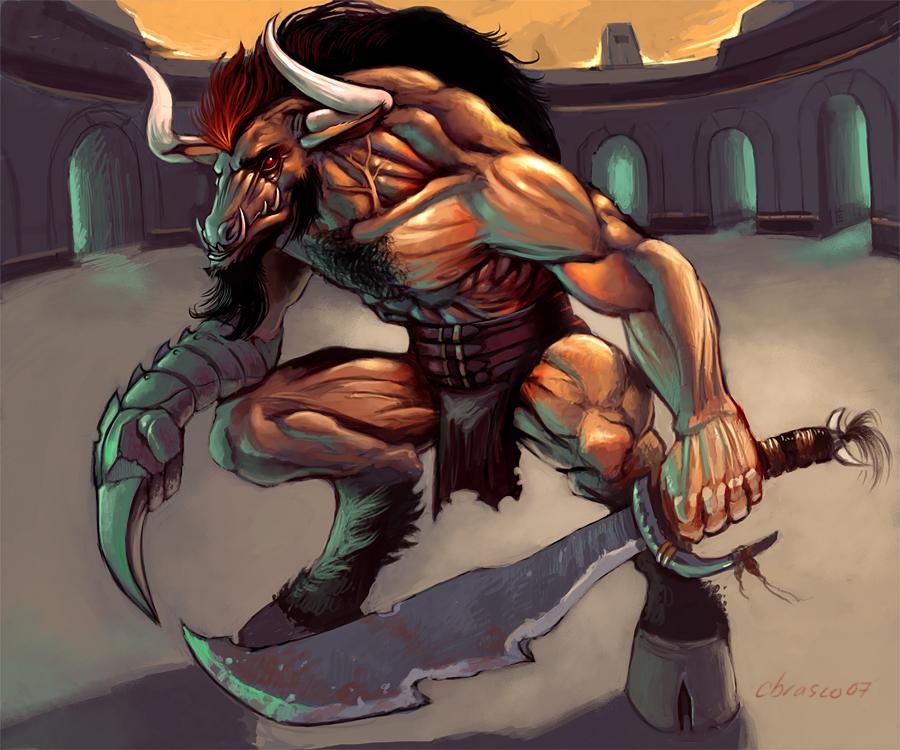 Minotaur_Gladiator_by_orgo.jpg (900×750)
