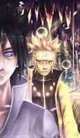 680 - Sasuke and Naruto friends forever by DaisanART