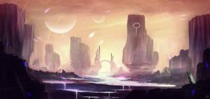 Fantasy Landscape by DaisanART