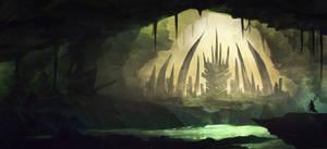 Underground fantasy Cave Town