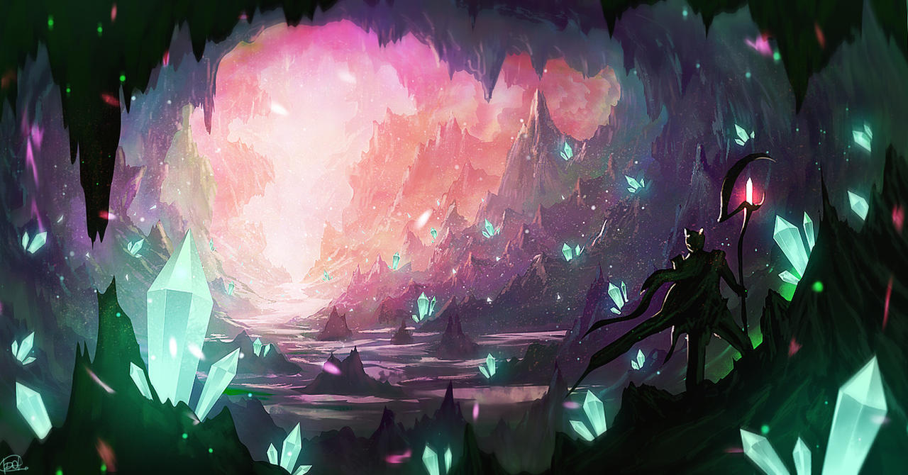 Crystal cave 2 video by idaisan on deviantart for Paintings of crystals