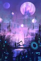 daily speedpaint 97 - city of hopes and dreams by DaisanART