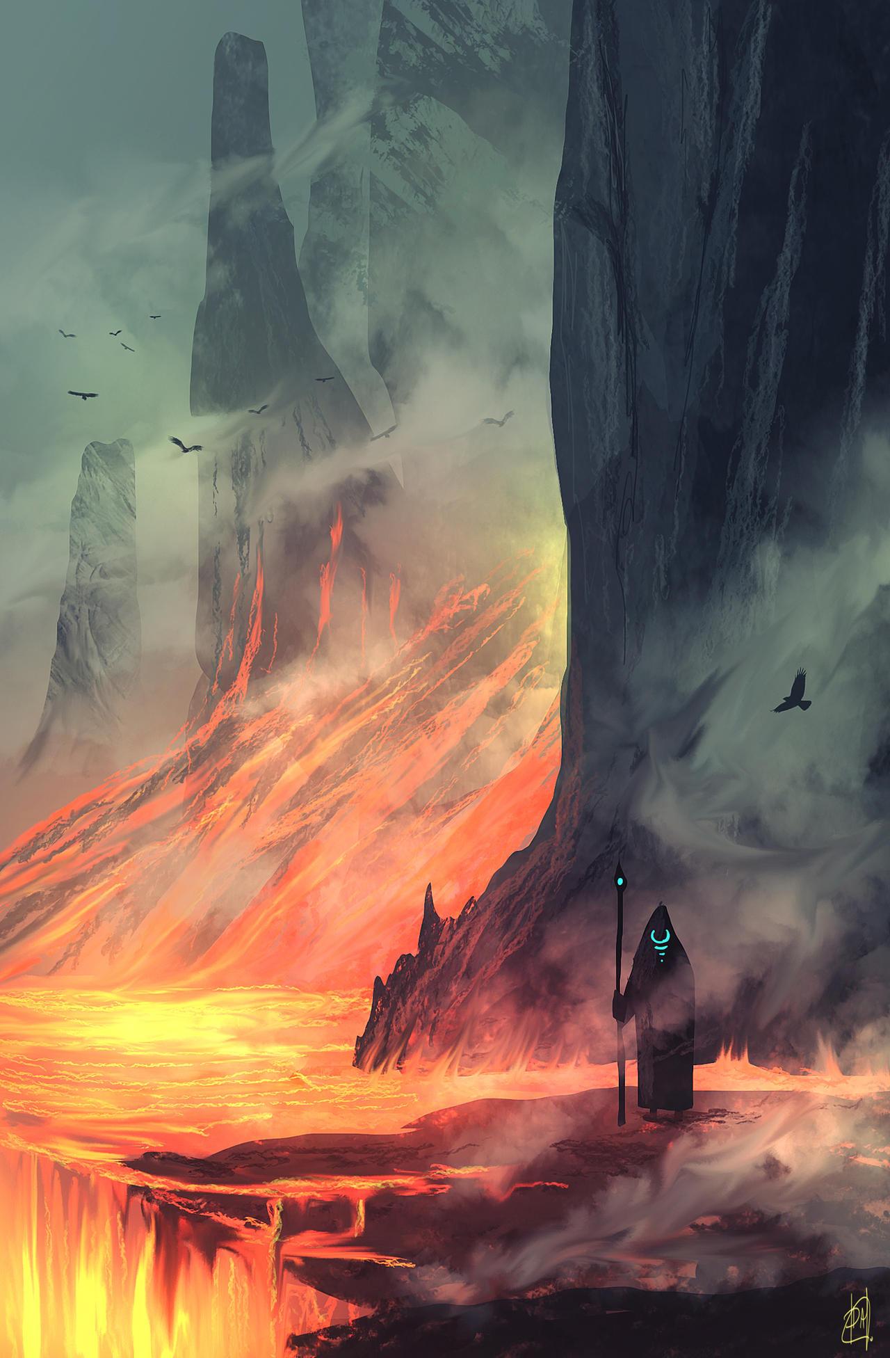 daily speedpaint 128 - sea of lava #2 by iDaisan