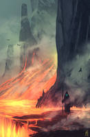 daily speedpaint 128 - sea of lava #2 by DaisanART