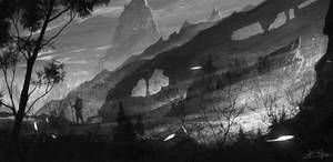 daily speedpaint 191 - mountain hiking