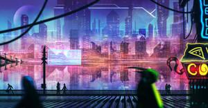 Future City Scape by DaisanART