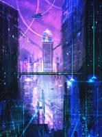 Future City concept sketch 2 by DaisanART