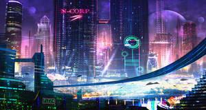 Future City concept sketch 3 by DaisanART