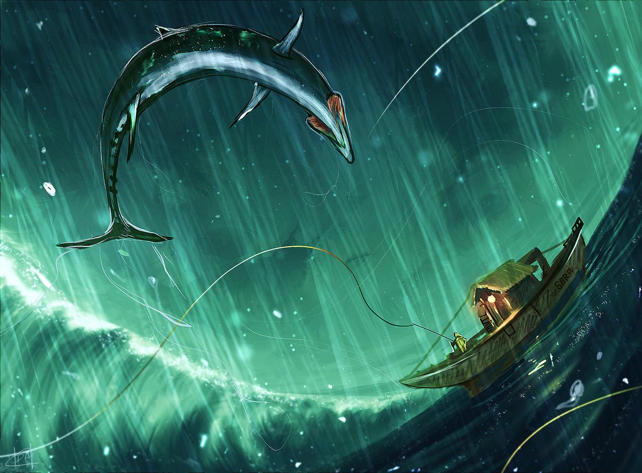 daily speedpaint 222 - The old fisherman by iDaisan