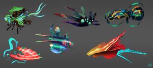 daily speedpaint 227 - alien dropships
