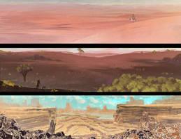 Landscape speedpaints 36[48] by DaisanART