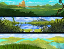 Landscape speedpaints 42[48] by DaisanART